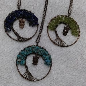 Jewelry - Natural stone copper necklace
